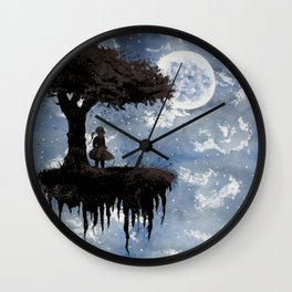 The Girl Among The Stars Wall Clock