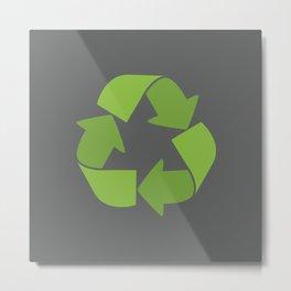Please Recycle Metal Print