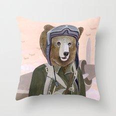 Aviator Bear Throw Pillow