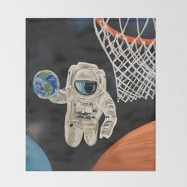Space Games Throw Blanket