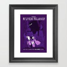 Lovecraftian Amusement Park #1: R'lyeh Island Framed Art Print