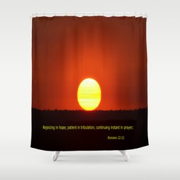 Rejoice in Hope Shower Curtain