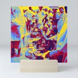 The Salesman. Ethiopia 1960s Neon art by Ahmet Asar Mini Art Print