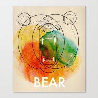 bear Canvas Prints featuring Bear by Alvaro Tapia Hidalgo