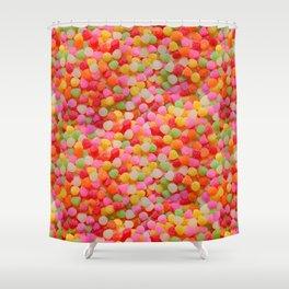 Gumdrop Candy Pattern Shower Curtain