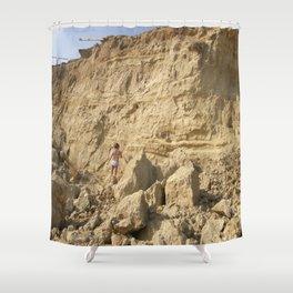 Eroding Graffiti Cliff 2 Shower Curtain