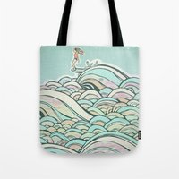 joy Tote Bags featuring Joy by jewelwing