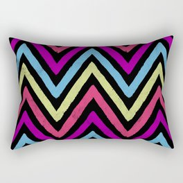 Native Neon Stripes Rectangular Pillow