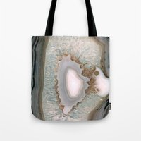 agate Tote Bags featuring Agate  by Katie A.M.