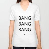 big bang V-neck T-shirts featuring Bang Bang Bang by GUUD