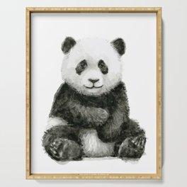 Baby Panda Watercolor Serving Tray