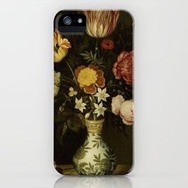 Ambrosius Bosschaert - Still life with flowers in a Wan-Li vase (1619) iPhone Case
