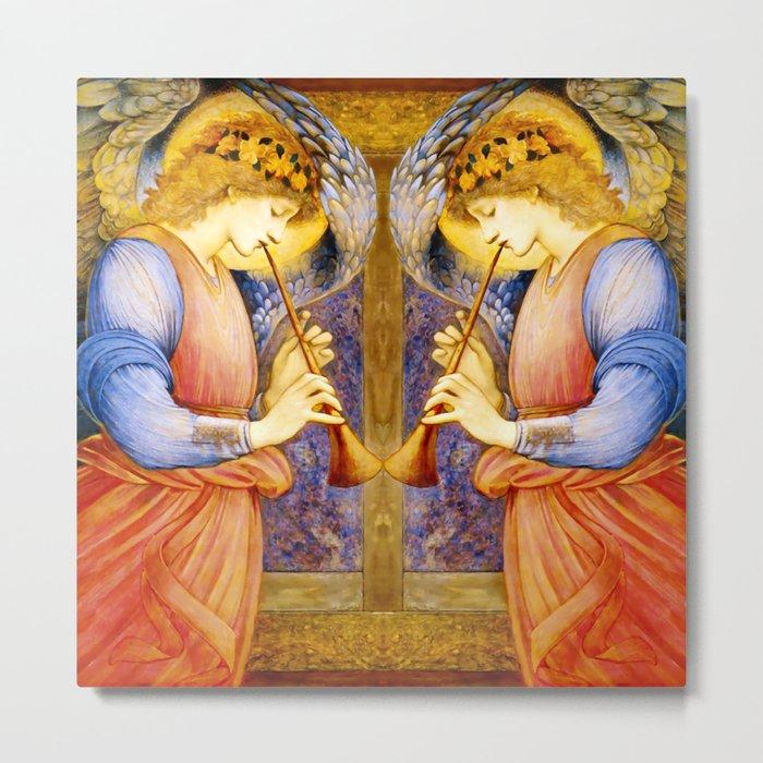 "Edward Burne-Jones ""An Angel Playing a Flageolet"" (1) Metal Print"