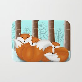 Slepping foxes Bath Mat