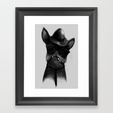 French Dog Blues Framed Art Print