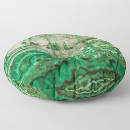 MINERAL BEAUTY - MALACHITE Floor Pillow