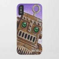 steam punk iPhone & iPod Cases featuring i.Friend: Steam Punk Robot by CHRIS MASON