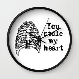You stole my heart Wall Clock
