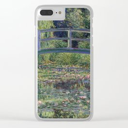 Water Lilies and the Japanese Bridge by Claude Monet Clear iPhone Case