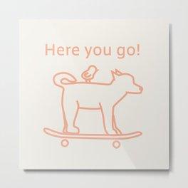 Shiba Dog -Orange- Metal Print