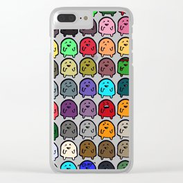 A variety of Snoobs. Clear iPhone Case