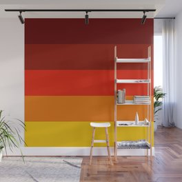 Multicolor Retro Strips Wall Mural