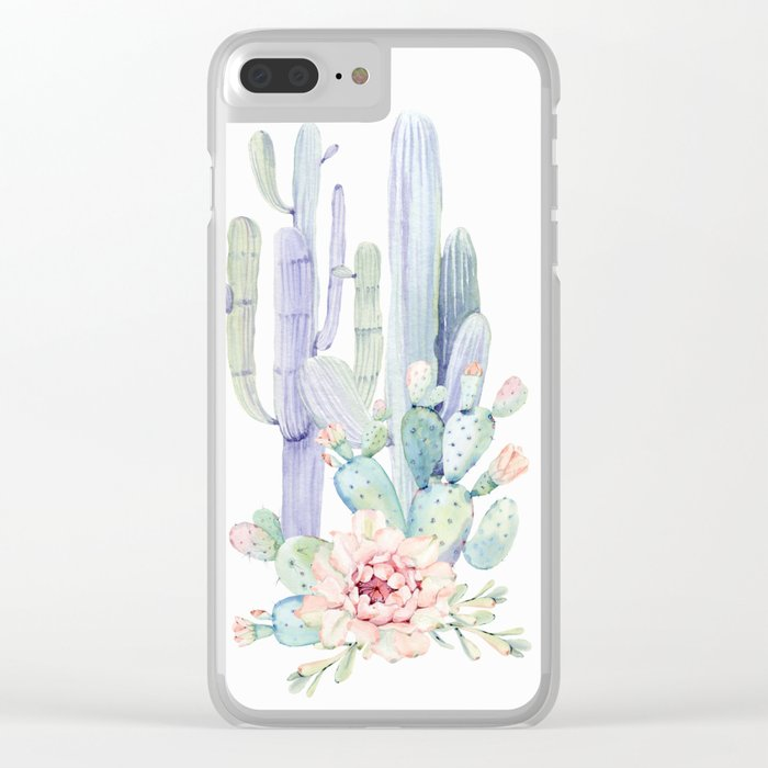 Mixed Cacti 2 #society6 #buyart Clear iPhone Case