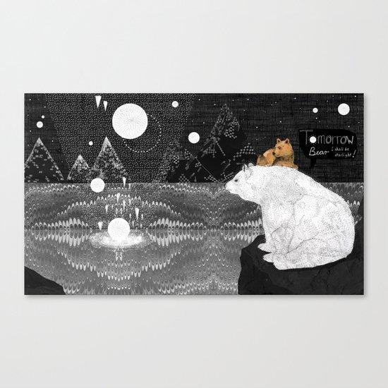 Tomorrow Bear Canvas Print