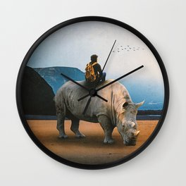Looking Nowhere Wall Clock
