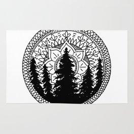 Pine Forest Mandala Rug