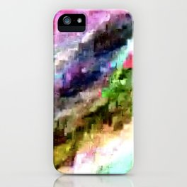 Wavy glitch iPhone Case