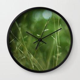 Green Blur Wall Clock