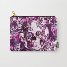 Plum Smoke and roses skull Illustration. Carry-All Pouch