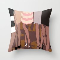 legs Throw Pillows featuring legs by yayanastasia