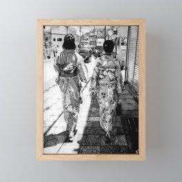 Kyoto   Charcoal B&W Framed Mini Art Print