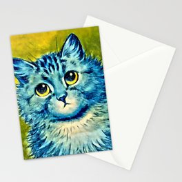 BLUE CAT - Louis Wain Art Stationery Cards