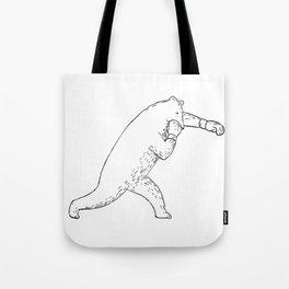 Kodiak Bear Left Straight Punch Drawing Tote Bag