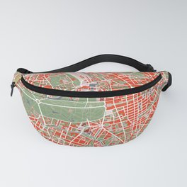 Berlin city map classic Fanny Pack