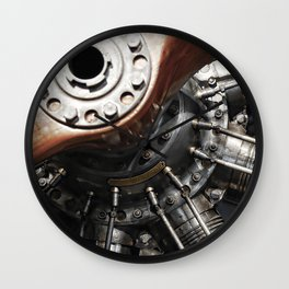 Airplane motor Wall Clock