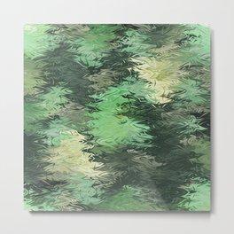 Green Illusions Metal Print