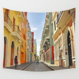 Streets of Old San Juan Wall Tapestry