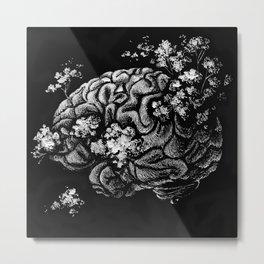 Peace of Mind - Anatomical Brain Illustration Metal Print