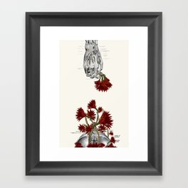 Blood Flowers anatomical collage by bedelgeuse Framed Art Print