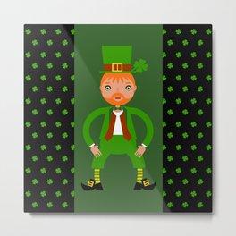 Naughty Irish Leprechaun Metal Print