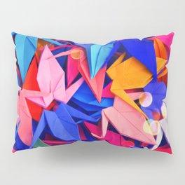 Senbazuru | pink and blues Pillow Sham