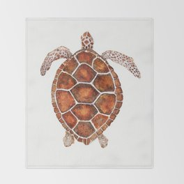 Turtle,Shell, Tortoise, Sealife, Lover, Animal Love, Brown Turtle, Wildlife, Turtle Lover, Turtles Throw Blanket