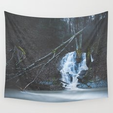 Emerging waterfall after the flood Wall Tapestry