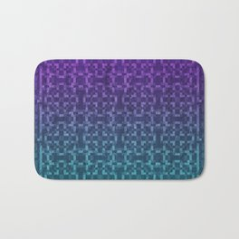 Pixel Patterns Green/Purple Bath Mat