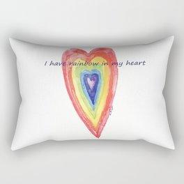 society6 cuore arcobaleno Rectangular Pillow