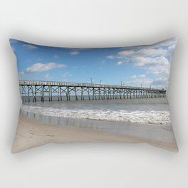 A Long Pier Rectangular Pillow